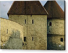 A Section Of Wall Around Tallinn, Built Acrylic Print by Sisse Brimberg