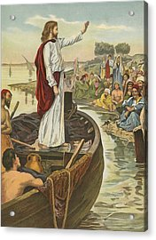 A Sermon  Acrylic Print by English School