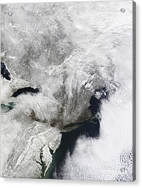 A Severe Winter Storm Acrylic Print by Stocktrek Images