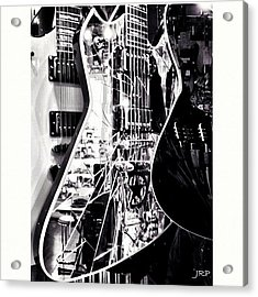 A Shattered Glass Guitar Acrylic Print