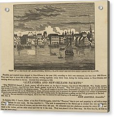 A Ship Of Slaves In 1836 Leaving Acrylic Print by Everett