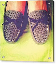 A Shoe. #olive #green #mine #shoes Acrylic Print