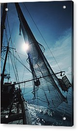 A Shrimping Boat Off The Coast Acrylic Print by Ira Block