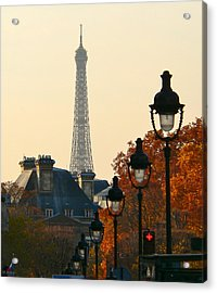 Acrylic Print featuring the photograph A Slice Of Paris by Eric Tressler