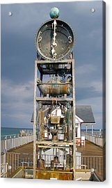A Slightly Rude Water Clock Acrylic Print by Rod Jones
