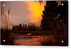 A Small Vineyard And Fine Hotel Acrylic Print by Michael S. Lewis