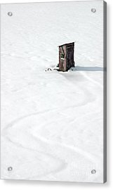 Acrylic Print featuring the photograph A Snowy Path by Karen Lee Ensley