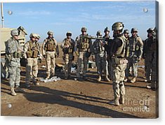 A Soldier Teaches How To Properly Acrylic Print