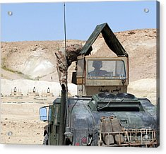 A Soldiier Instructs An Iraqi Army Acrylic Print by Stocktrek Images