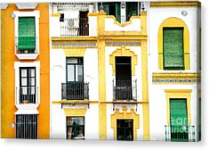 A Spanish Facade Acrylic Print by Perry Van Munster