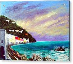 A Splash Of The Mediterranean  Acrylic Print by Larry Cirigliano