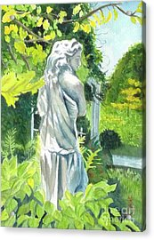 Acrylic Print featuring the painting A Statue At The Wellers Carriage House -3 by Yoshiko Mishina