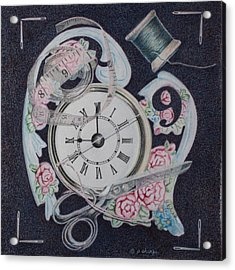 A Stitch In Time Acrylic Print