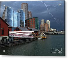 Acrylic Print featuring the photograph A Storm In Boston by Gina Cormier