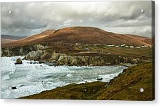 Acrylic Print featuring the photograph A Stormy Day On Achill Island by Trever Miller