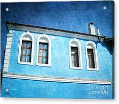 A Story In Blue Acrylic Print