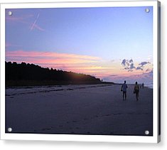 Acrylic Print featuring the photograph A Sunrise Stroll On The Beach by Frank Wickham