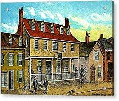 A Tavern In Philadelphia Pa Acrylic Print by Dwight Goss