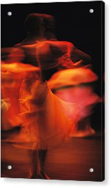 A Time-exposed View Of A Performance Acrylic Print by Michael Nichols