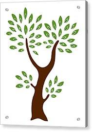 A Tree Acrylic Print by Frank Tschakert