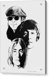 A Tribute To Lennon Acrylic Print by Suzanne Schaefer