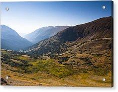 A Tundra Valley In The Colorado Rockies Acrylic Print by Ellie Teramoto