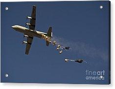A U. S. Air Force C-130 Hercules Acrylic Print by Stocktrek Images