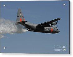 A U.s. Air Force C-130 Hercules Acrylic Print by Stocktrek Images