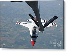 A U.s. Air Force Thunderbird Pilot Acrylic Print by Stocktrek Images