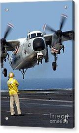 A U.s. Navy Officer Observes A C-2a Acrylic Print