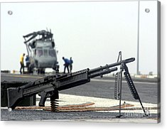 A U.s. Navy Saco 7.62 Mm M60 Machine Acrylic Print