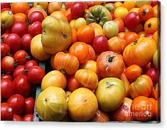 A Variety Of Fresh Tomatoes - 5d17811 Acrylic Print by Wingsdomain Art and Photography