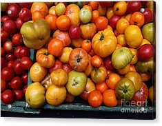 A Variety Of Fresh Tomatoes - 5d17812 Acrylic Print by Wingsdomain Art and Photography