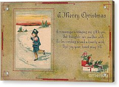 A Very Merry Christmas Acrylic Print by Angela Wright