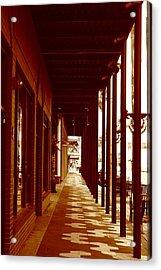 A View Down 7th Avenue Acrylic Print by April Wietrecki Green
