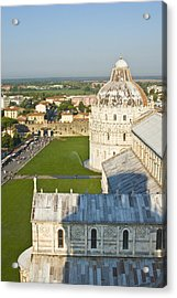 A View From The Bell Tower Of Pisa  Acrylic Print