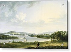 A View Of Knock Ninney And Part Of Lough Erne From Bellisle - County Fermanagh  Acrylic Print by Thomas Roberts