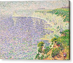 A View Of The Cliffs Of Etretat Acrylic Print by Claude Emile Schuffenecker