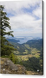 A View Of The Farms Of The Island Acrylic Print by Taylor S. Kennedy