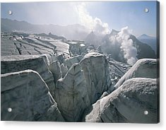A View Of The Mudnovsky Glacier Acrylic Print by Carsten Peter