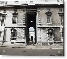 A View Of The Royal Naval College Acrylic Print by Anna Villarreal Garbis