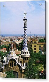 A View Over Barcelona From Parc Guell. Acrylic Print by Tracy Packer Photography