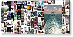 A Walk Down The Pier Acrylic Print by Holley Jacobs