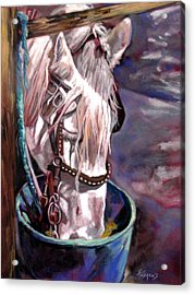 Acrylic Print featuring the painting A Whiter Shade Of Pale by Rae Andrews