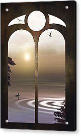 A Window To The Sunset Acrylic Print by Tom York Images