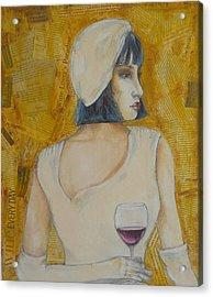 A Wine Tasting Evening Acrylic Print by MaryAnn Ceballos