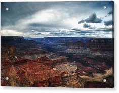 A Winter Scene From The South Rim Of Grand Canyon National Park.  Acrylic Print by C Thomas Willard