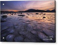 A Winter Sunset At Evenskjer In Troms Acrylic Print by Arild Heitmann