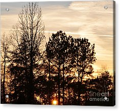 Acrylic Print featuring the photograph A Winter's Eve by Maria Urso