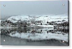 Acrylic Print featuring the photograph A Winter's Scene by Lynn Bolt